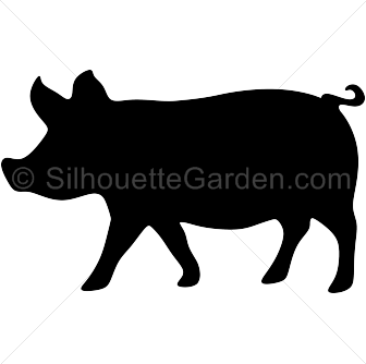 Show pig silhouette clipart png free download Pin by Muse Printables on Silhouette Clip Art at ... png free download