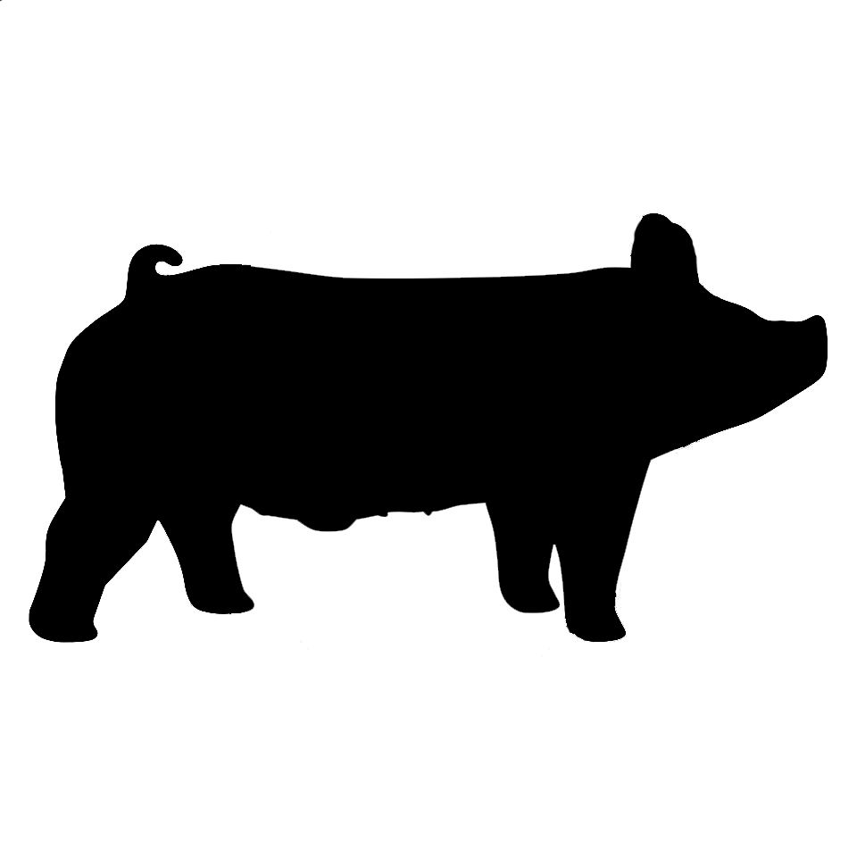 Show pig silhouette clipart black and white Reasons why we will always show livestock | diaries of stock ... black and white