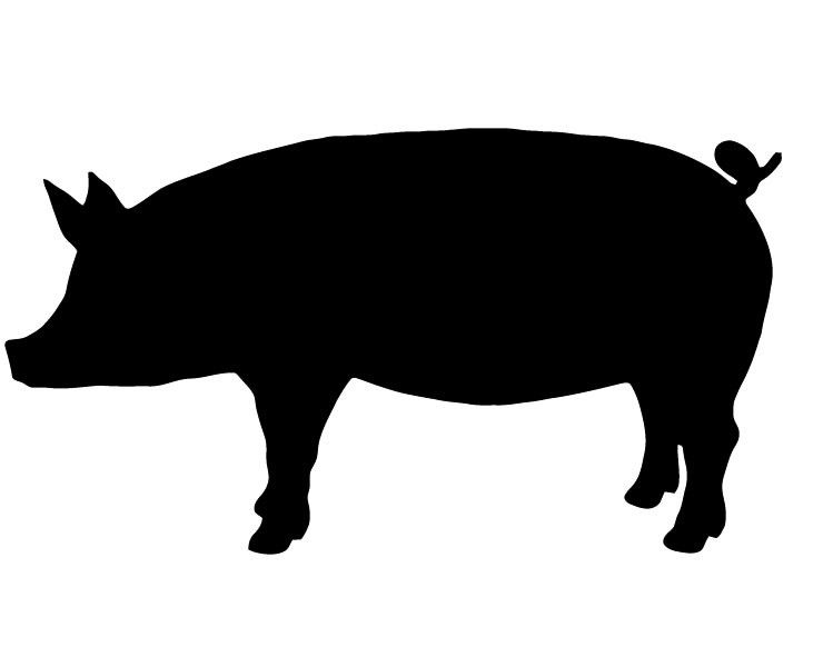 Pigs head on a fish clipart free clip art freeuse Show Pig Silhouette - ClipArt Best | Stenciling | Pig images ... clip art freeuse