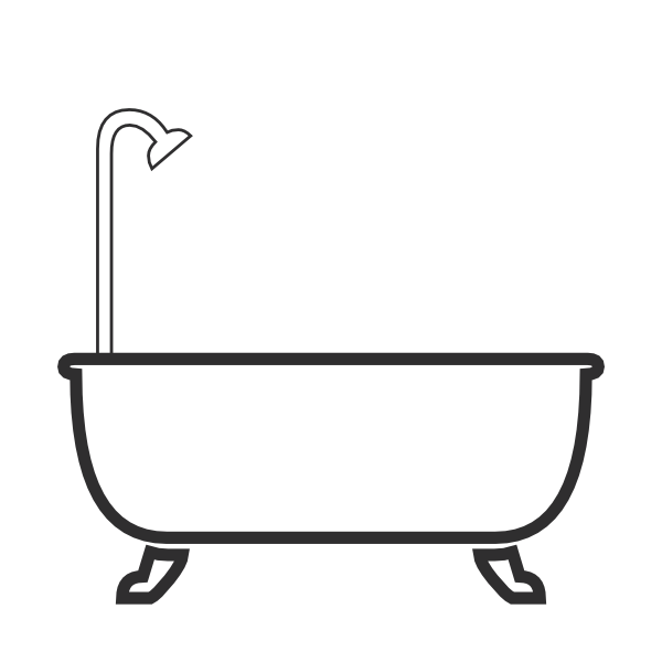 Shower clip art graphic royalty free download Shower Tub Clipart - Clipart Kid graphic royalty free download
