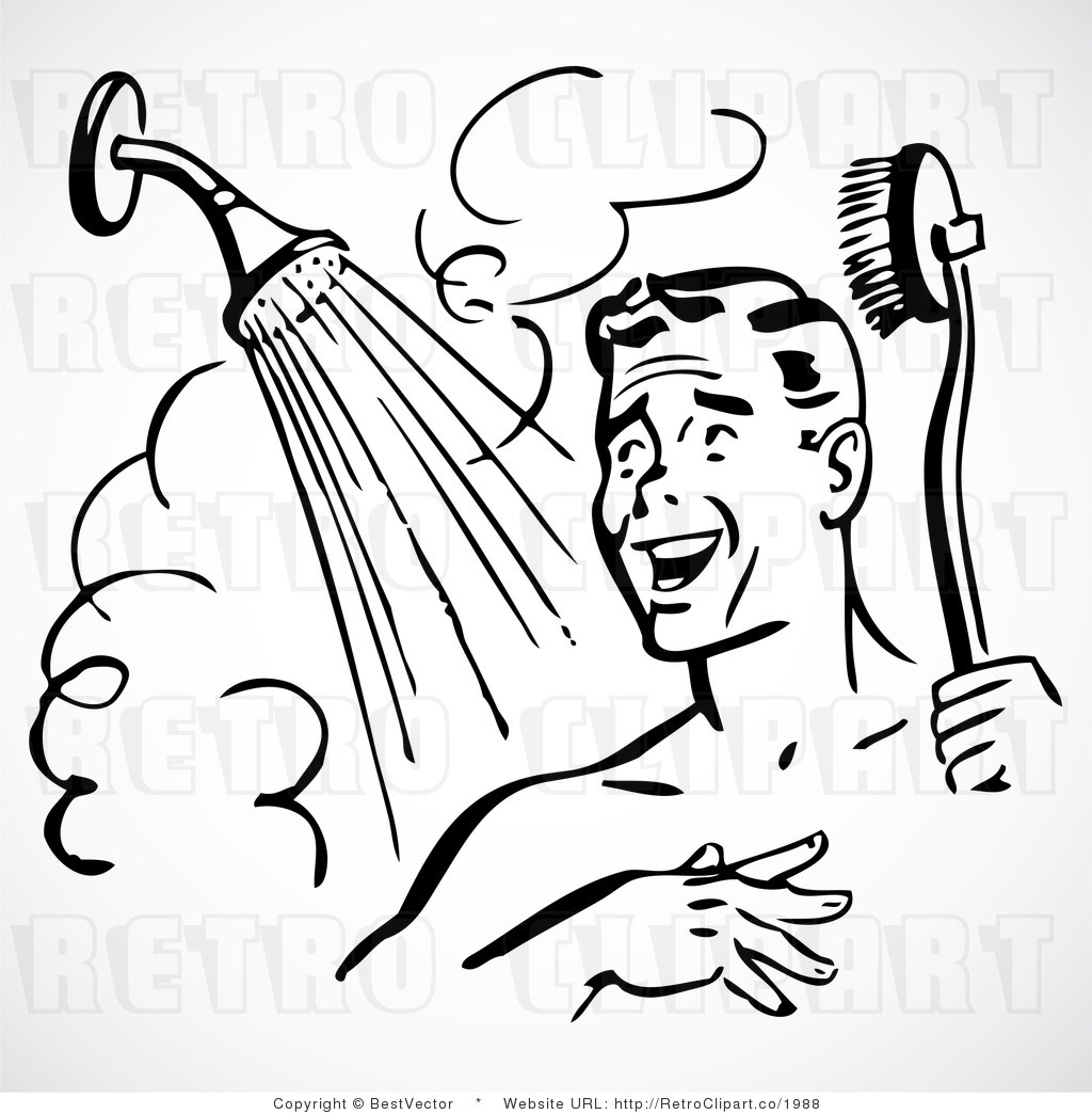 Shower clip art free image black and white stock Showering Clipart & Showering Clip Art Images - ClipartALL.com image black and white stock