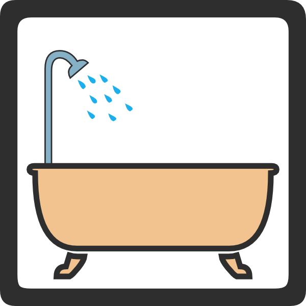 Shower cliparts picture black and white Cleaning The Bathroom Clipart | Free download best Cleaning ... picture black and white
