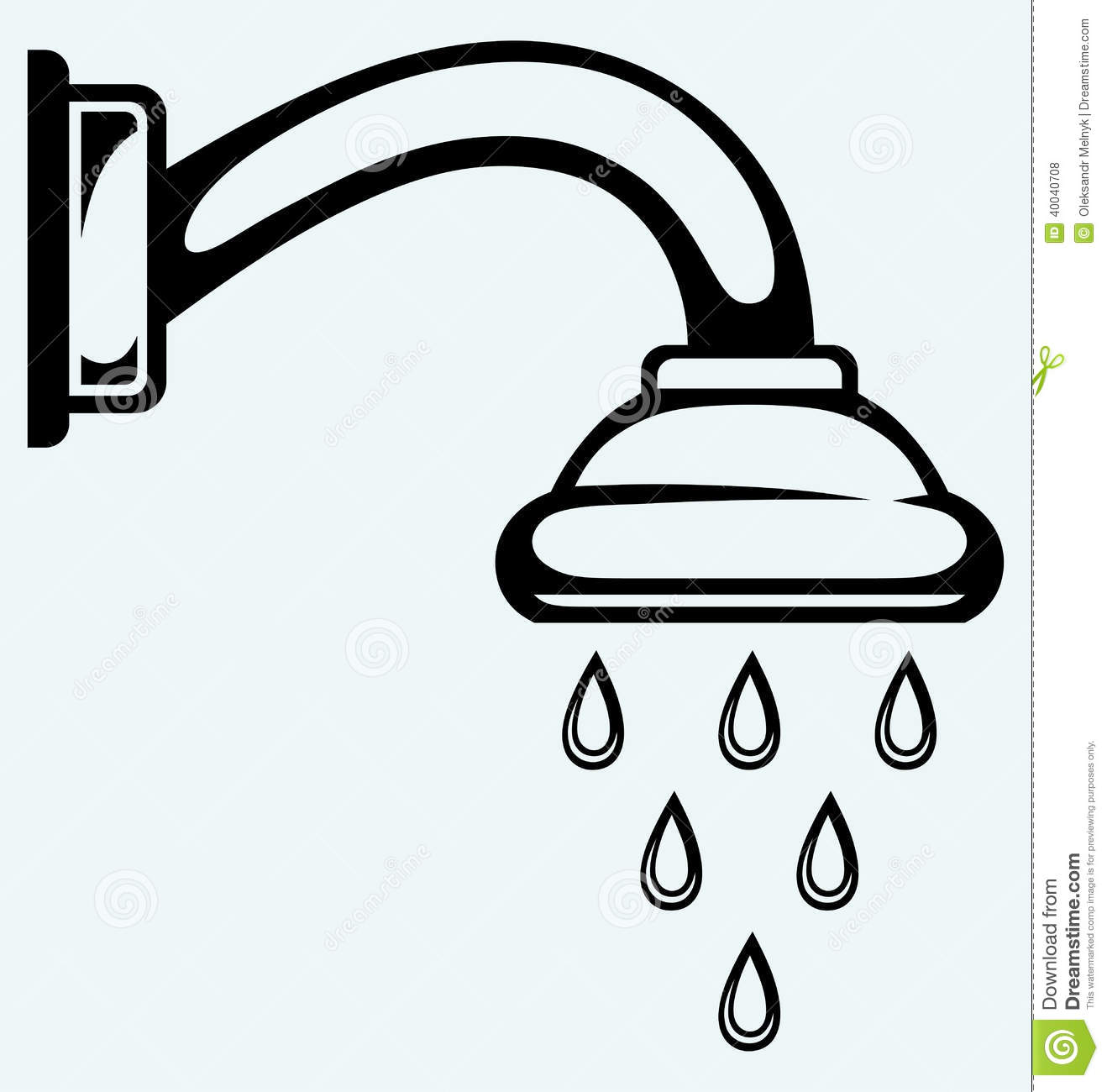 Shower head clip art image library download Bathroom Shower Head Clip Art – Clipart Free Download image library download