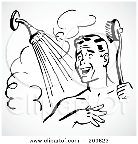 Shower images clip art image black and white download Royalty-Free (RF) Shower Clipart, Illustrations, Vector Graphics #1 image black and white download
