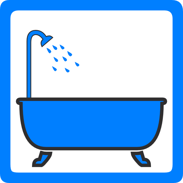 Shower tub clipart vector free library Tub And Shower Clip Art at Clker.com - vector clip art ... vector free library