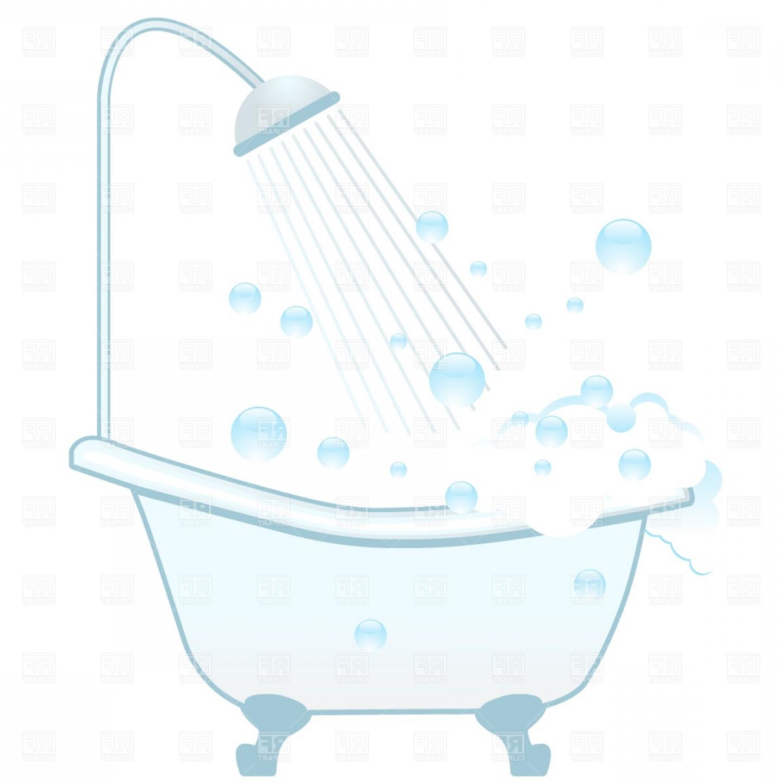 Shower tub clipart clip art freeuse download Bathtub Shower And Foam Vector Clipart | SOIDERGI clip art freeuse download