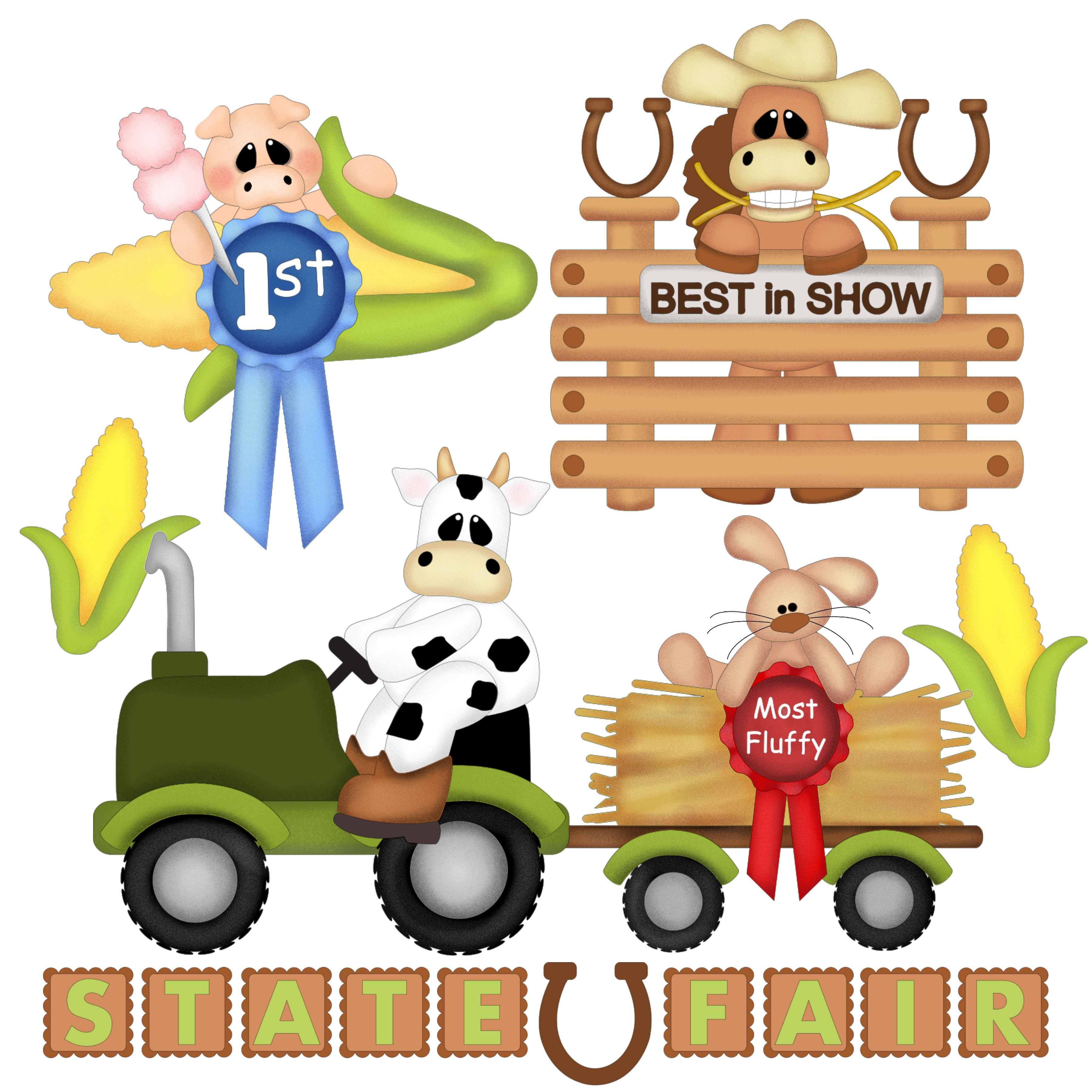 Showing animals at the fair clipart png royalty free State Fair farm animals | FarmHouseFresh | Scrapbook paper ... png royalty free