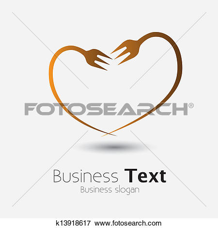 Showing love clipart jpg royalty free Clip Art of fork icon forming shape of heart showing love of food ... jpg royalty free