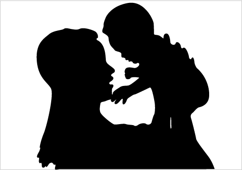 Showing love clipart picture transparent library Clip Art Of Mother And Baby Showing Love Clipart - Clipart Kid picture transparent library