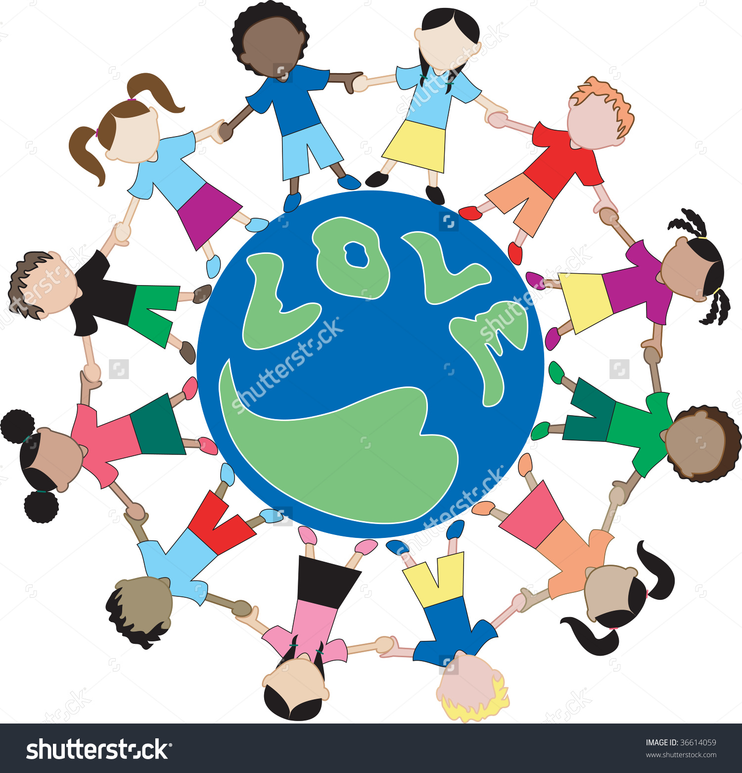 Showing love clipart clip freeuse Kids Love Globe 2 Showing Love Stock Vector 36614059 - Shutterstock clip freeuse