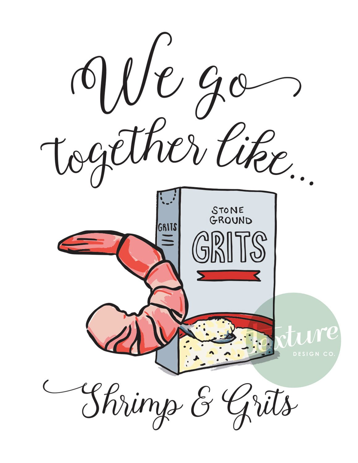 Shrimp and grits clipart png transparent stock Greeting Card - Perfect Pair - Shrimp & Grits – Texture ... png transparent stock