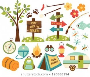 Shuttherstock com clipart clip freeuse stock Summer Camp Clipart Stock Illustrations, Images & Vectors ... clip freeuse stock
