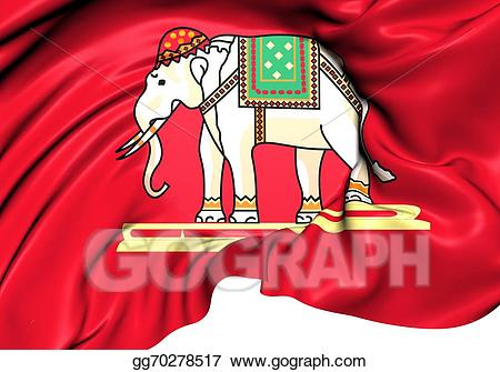 Siam clipart banner royalty free library Stock Illustration - State flag of siam (1916-1917). Clipart ... banner royalty free library