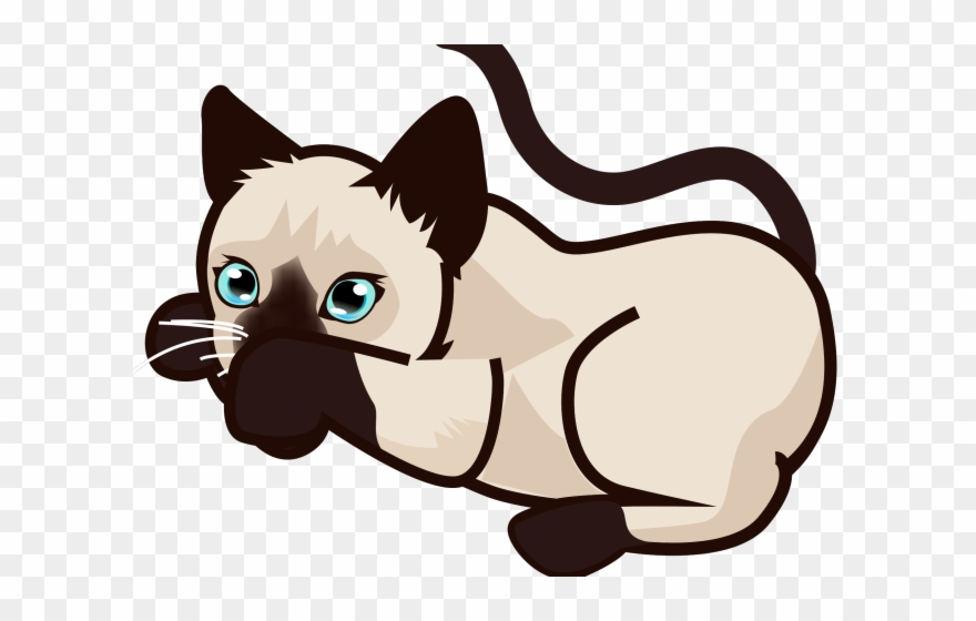 Siamese cat animated clipart vector royalty free download Siamese,Cartoon,Snout,Clip art,Cat,Illustration,Fawn,Tail ... vector royalty free download