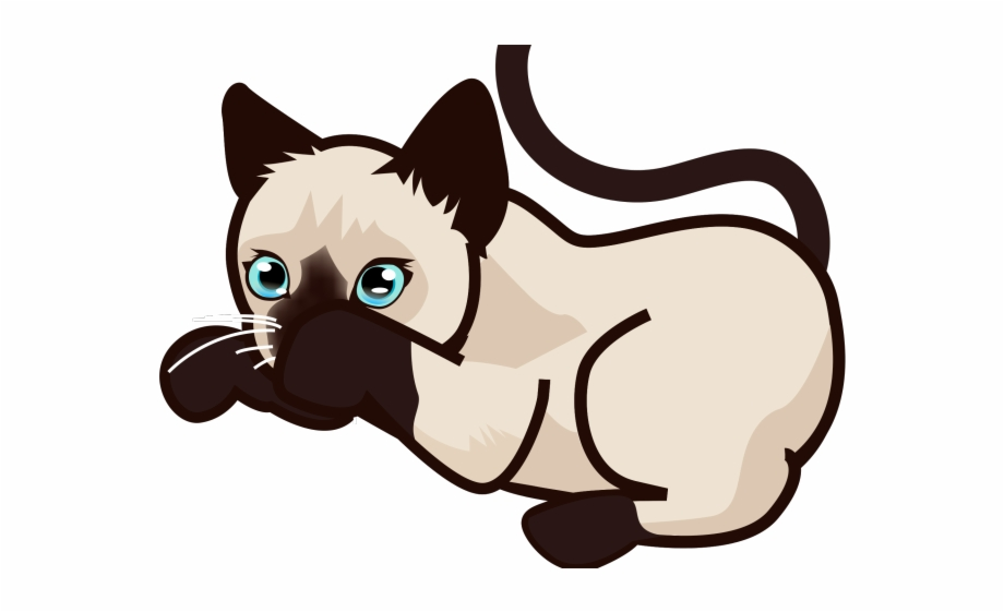 Siamese cat animated clipart vector transparent library Siamese Cat Clipart Sleeping - Siamese Cat Clip Art ... vector transparent library