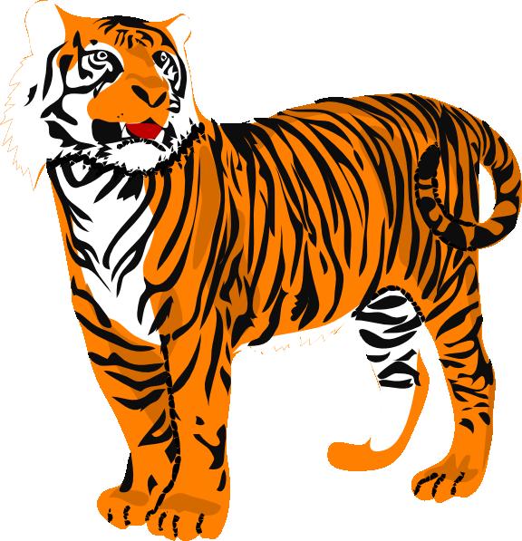 Siberian cat clipart image transparent Tiger Clip Art at Clker.com - vector clip art online, royalty free ... image transparent