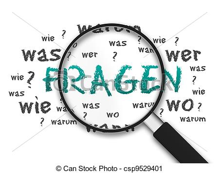 Sich fragen clipart picture free stock Clipart of Fragen - Magnified illustration with the word Fragen on ... picture free stock