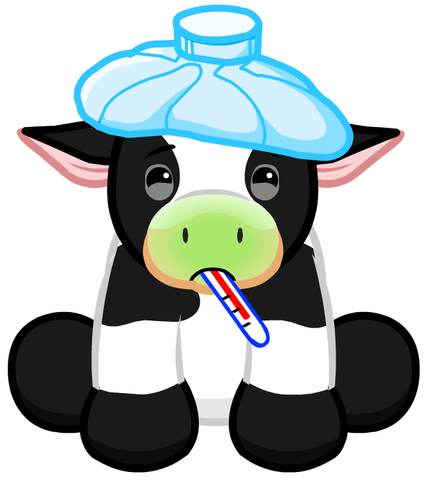 Sick cow clipart picture stock Sick Cow Clipart picture stock