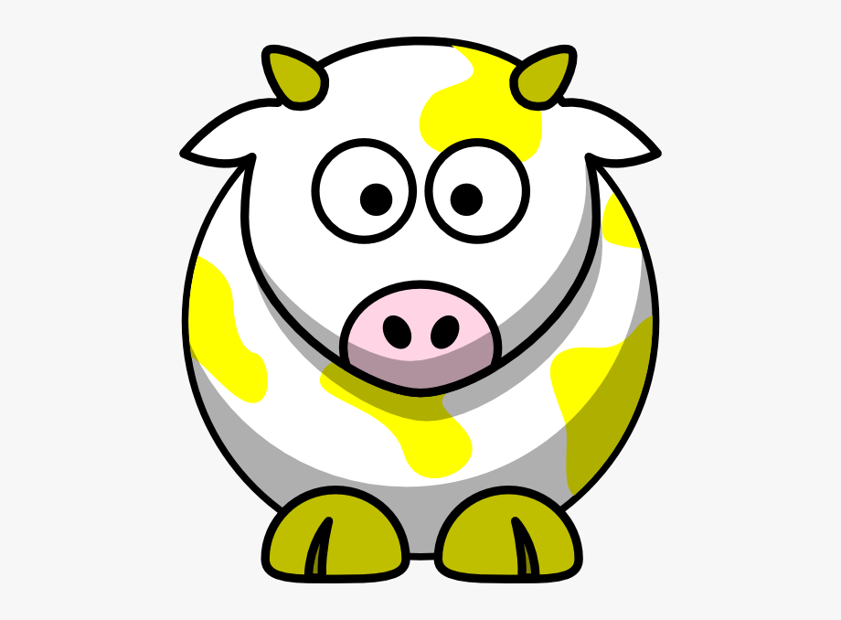 Sick cow clipart svg library Yellow Cow Clip Art - Clipart Cartoon Cow , Transparent ... svg library