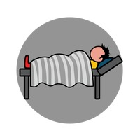 Sick man in bed clipart svg royalty free Sick Unwell Ill Man Men Guy Guys Human People Person Lying ... svg royalty free