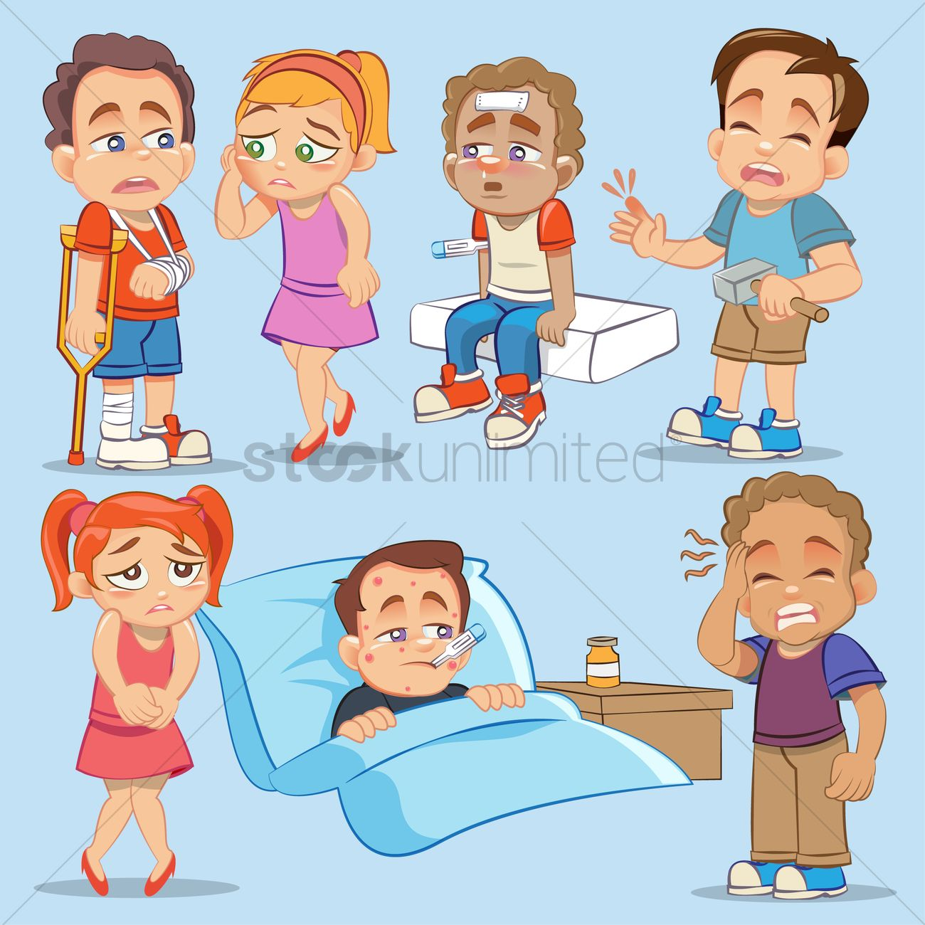 Sick or hurt clipart picture transparent stock Hurt clipart injured child - 123 transparent clip arts ... picture transparent stock