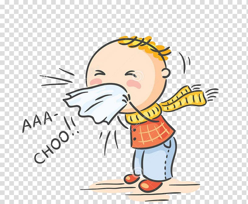 Sick or hurt clipart banner free stock Sneezing boy illustration, Common cold Influenza Symptom Flu ... banner free stock