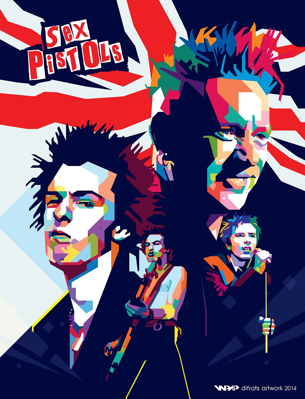Sid vicious clipart png freeuse Sid Vicious + Johnny Rotten wpap by difrats #art #vector ... png freeuse