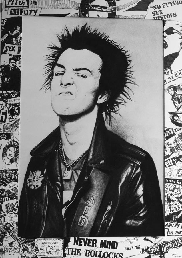 Sid vicious clipart banner black and white stock Sid Vicious Collage banner black and white stock