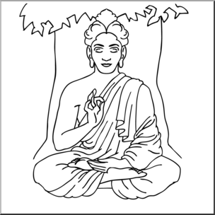 Sidartha clipart vector Clip Art: India: Siddhartha Gautama (coloring page) I ... vector