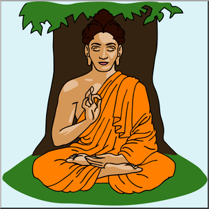 Sidartha clipart graphic royalty free stock Clip Art: India: Siddhartha Gautama Color I abcteach.com ... graphic royalty free stock