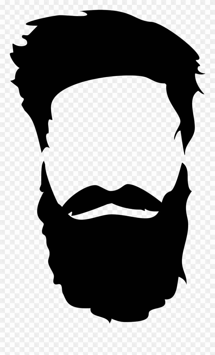 Side beard clipart clip art library Hair Beard Png Clip Art Gallery Yopriceville - Beard And ... clip art library