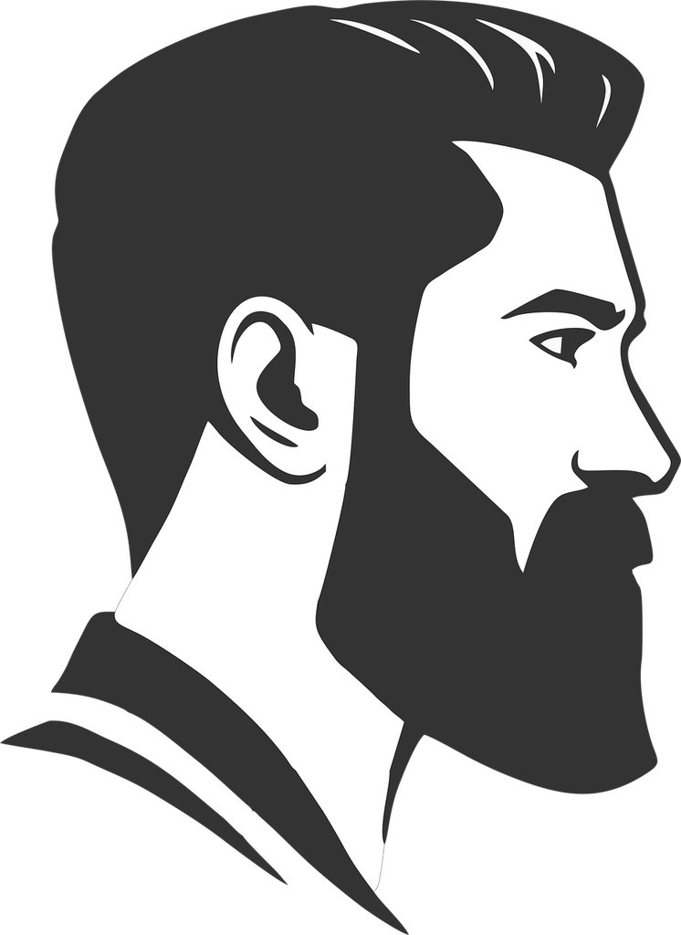 Side beard clipart image black and white Beard PNG images free download image black and white