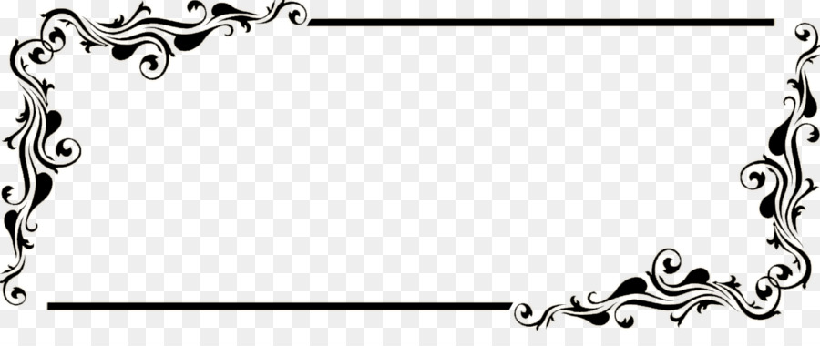 Side line borders clipart banner black and white download Black And White Frame clipart - Rectangle, transparent clip art banner black and white download