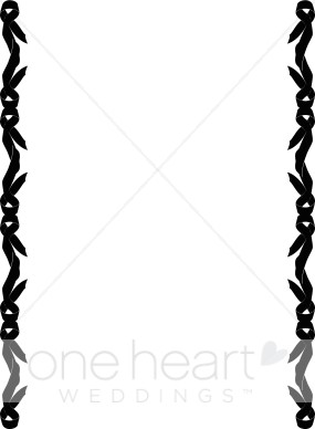 Side page ribbons clipart graphic transparent library Black Ribbon Side Border | Ribbon Borders graphic transparent library