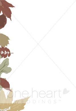 Side tree with fall leaves clipart clip black and white library Left Side Muted tone Fall Leaves | Seasonal Borders clip black and white library