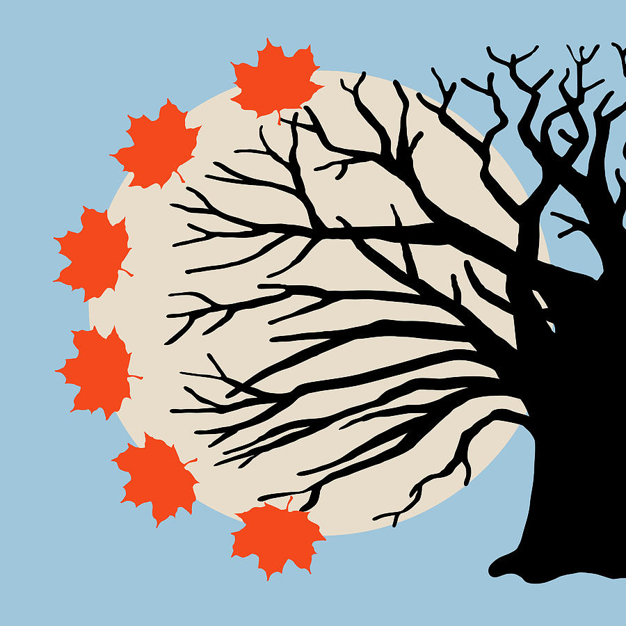 Side tree with fall leaves clipart vector library download Fall Tree Left Side by Artzmakerz vector library download