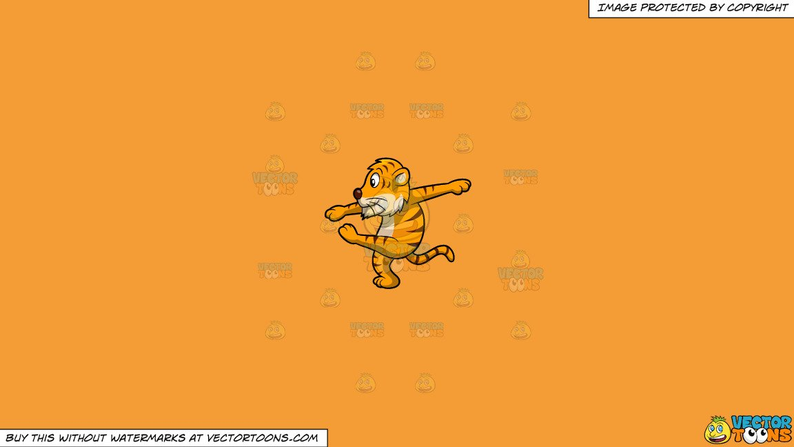 Sideways s with line through it clipart banner free download Clipart: A Dancing Tiger on a Solid Deep Saffron Gold F49D37 Background banner free download