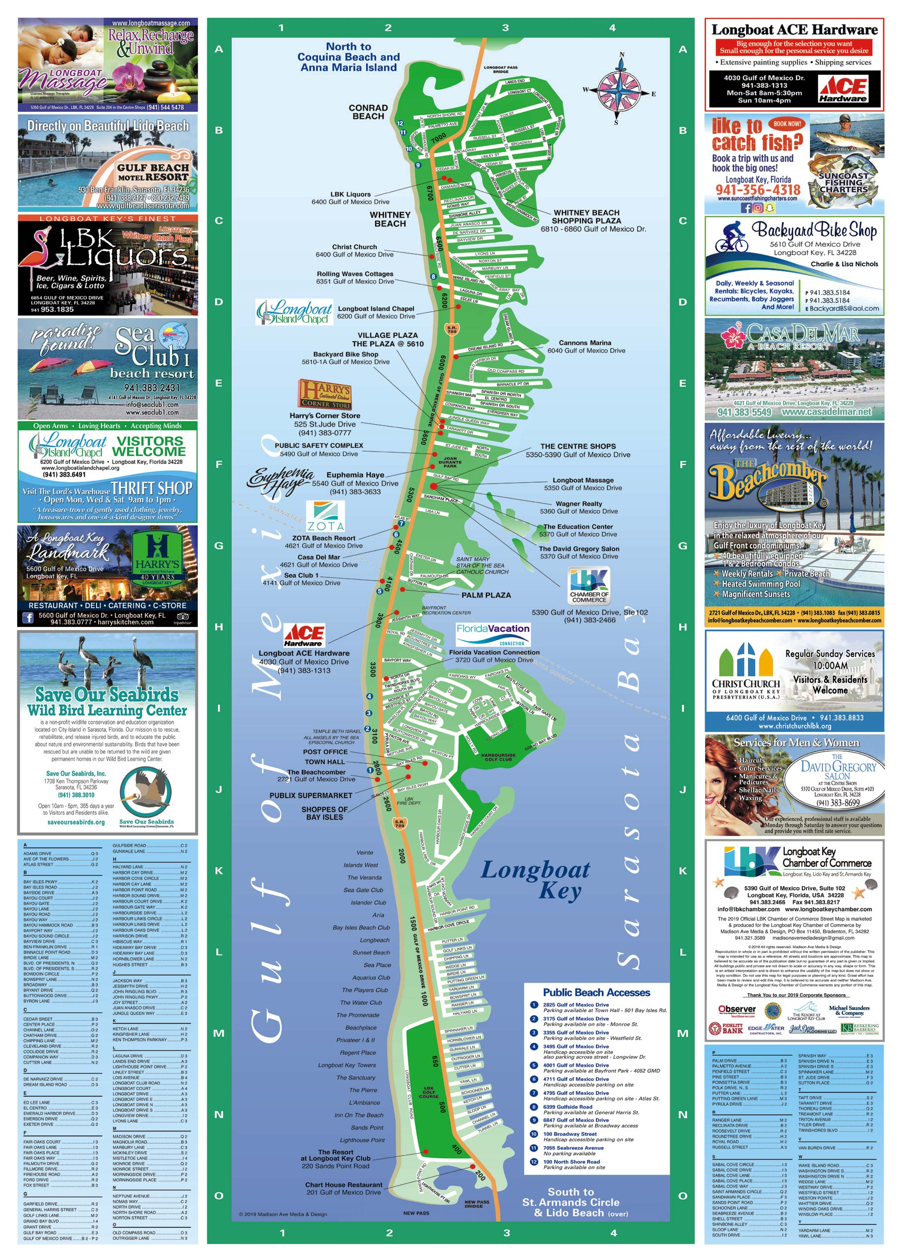 Siesta key florida on a clipart map image freeuse Longboat Key Map | Longboat Key Chamber of Commerce image freeuse