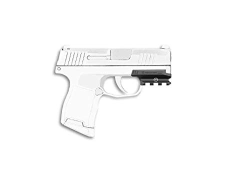 Sig sour hour pistol clipart black and white jpg transparent library Recover Tactical ZR65 Picatinny Over Rail for The Sig P365- Easy  Installation, No Modifications Required to Your Firearm, no Need for a  Gunsmith. ... jpg transparent library