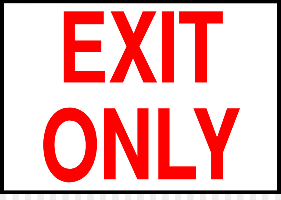 Sign clipart exit graphic library library Red Banner png download - 958*660 - Free Transparent Exit ... graphic library library