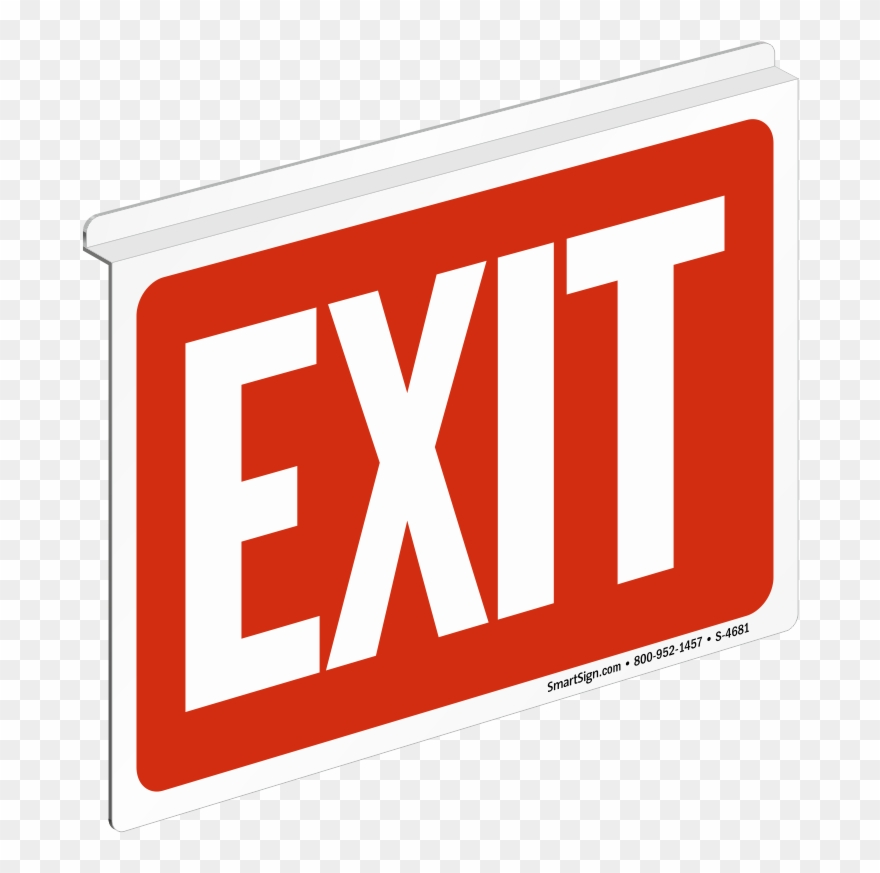 Sign clipart exit png freeuse stock Z Sign For Ceiling - Exit Sign Clipart (#1623771) - PinClipart png freeuse stock