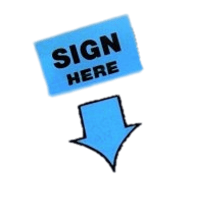 Sign here clipart graphic stock Sign Here Blue Arrow transparent PNG - StickPNG graphic stock
