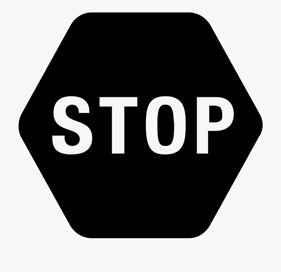 Sign in icon clipart image library stock Stop Sign Clip Art Black - Transparent Stop Sign Icon ... image library stock