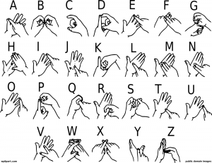 Sign language alphabet clipart vector black and white Sign Language A Clip Art Download vector black and white