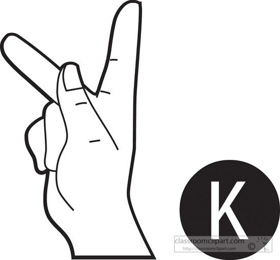 Sign language alphabet clipart jpg stock Sign language clipart letter k - ClipartFest jpg stock