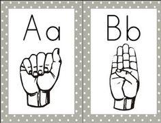 Sign language alphabet clipart fro kids image library library Types of Sign Language | Language, Teaching and Sign language chart image library library