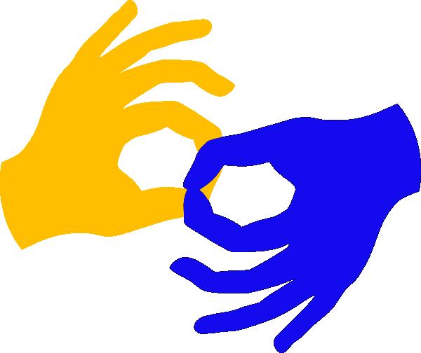 Sign language clip art svg royalty free Sign Language Clipart - Clipart Kid svg royalty free