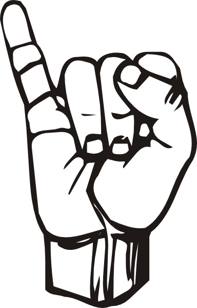 Sign language clip art clip transparent stock Sign Language I clip art Free vector in Open office drawing svg ... clip transparent stock