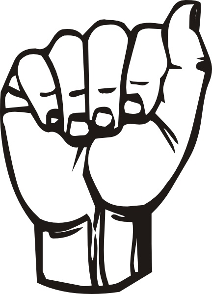 Sign language clipart black and white vector logo png freeuse Sign Language A clip art Free vector in Open office drawing ... png freeuse