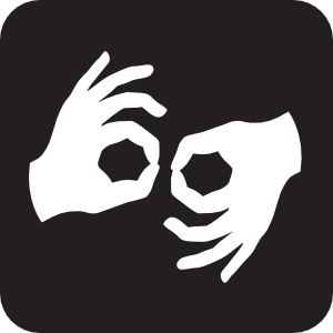 Sign language clipart black and white vector logo png freeuse library Sign Language Interpretation Black Clip Art at Clker.com ... png freeuse library